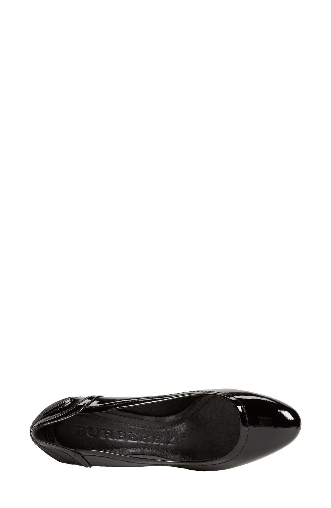 Alternate Image 5  - Burberry Patent Leather Pump