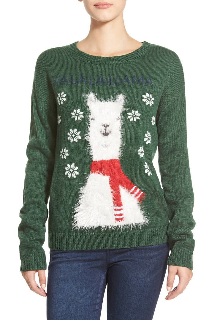 Kids Christmas Sweater Llama