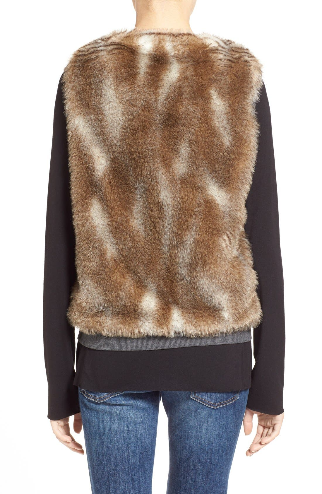 Alternate Image 2  - Splendid 'Ashville' Faux Fur Reversible Vest