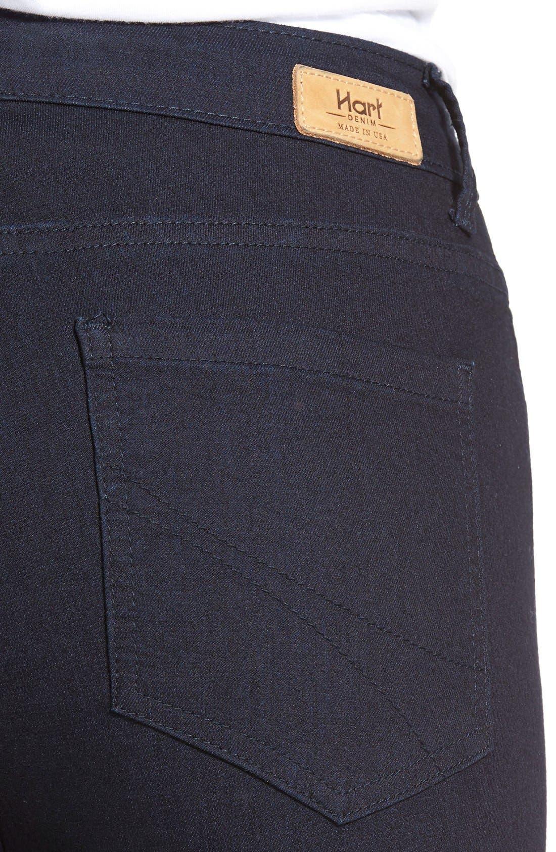 Alternate Image 4  - HARTDenim'Nic'Destroyed Skinny Crop Jeans
