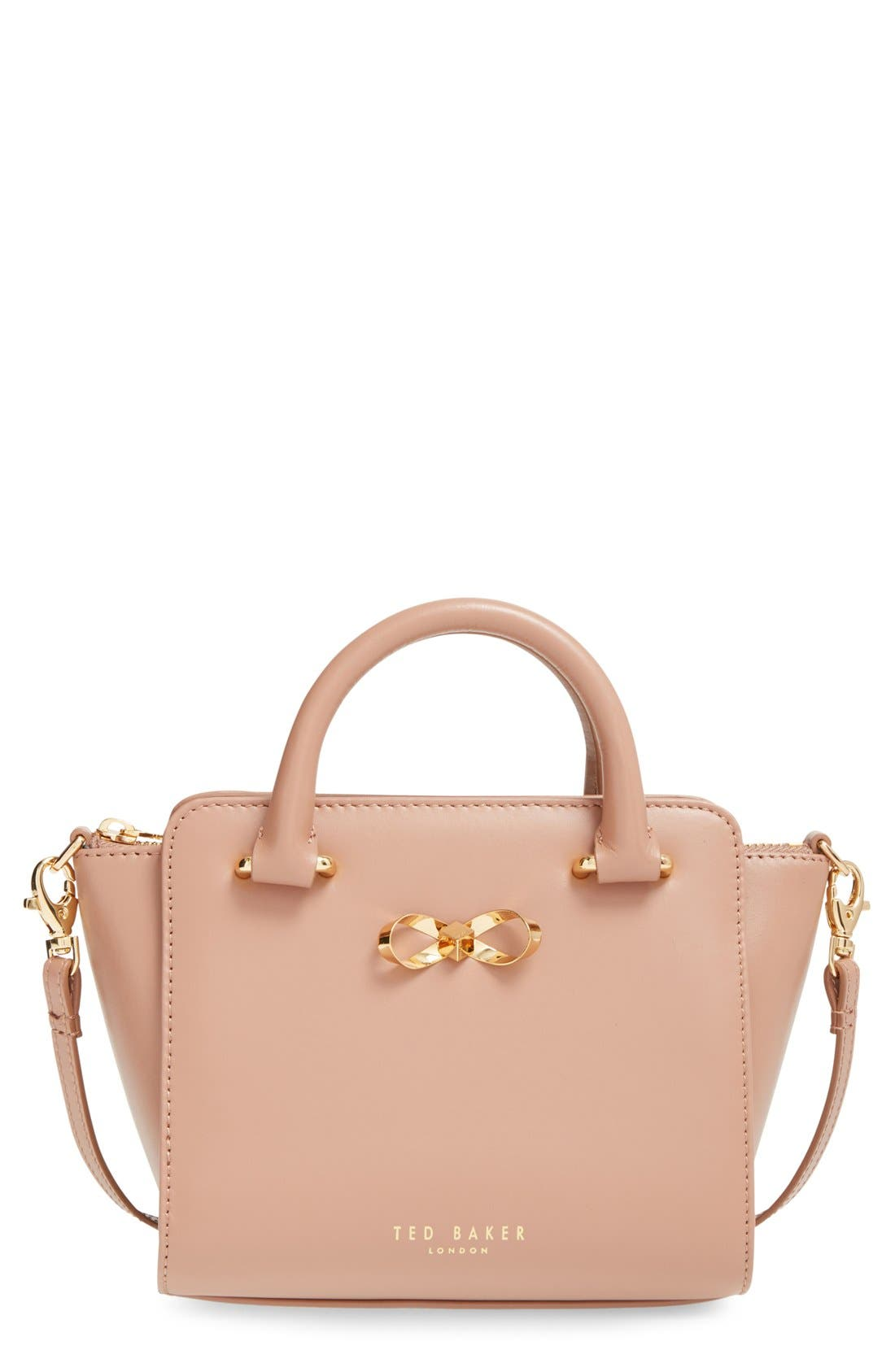Main Image - Ted Baker London'Loop Bow' MiniLeather Tote Bag