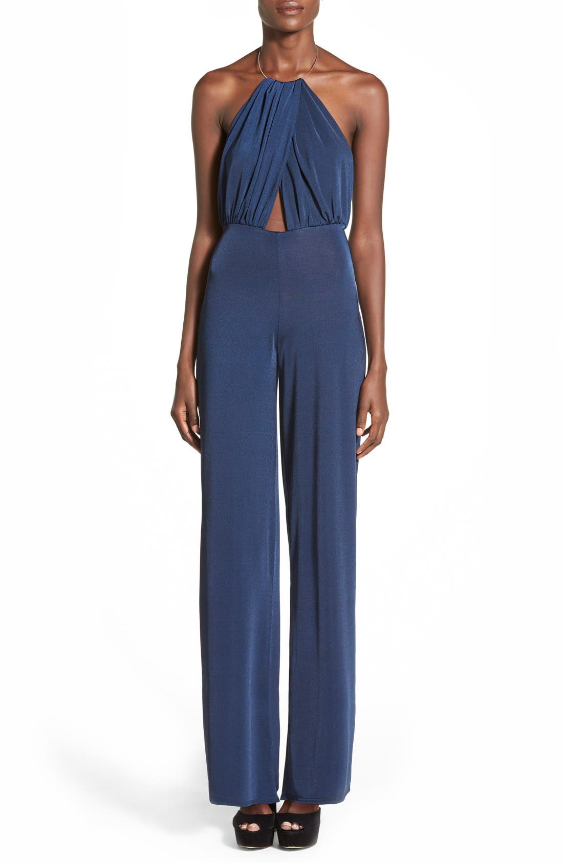 Alternate Image 1 Selected - Missguided Halter Jumpsuit