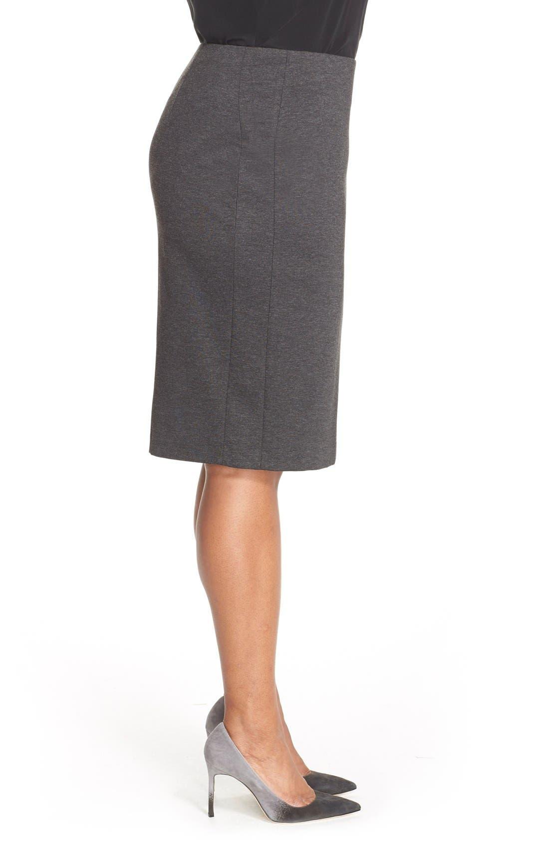 Alternate Image 3  - Vince Camuto Ponte Knit Skirt (Plus Size)