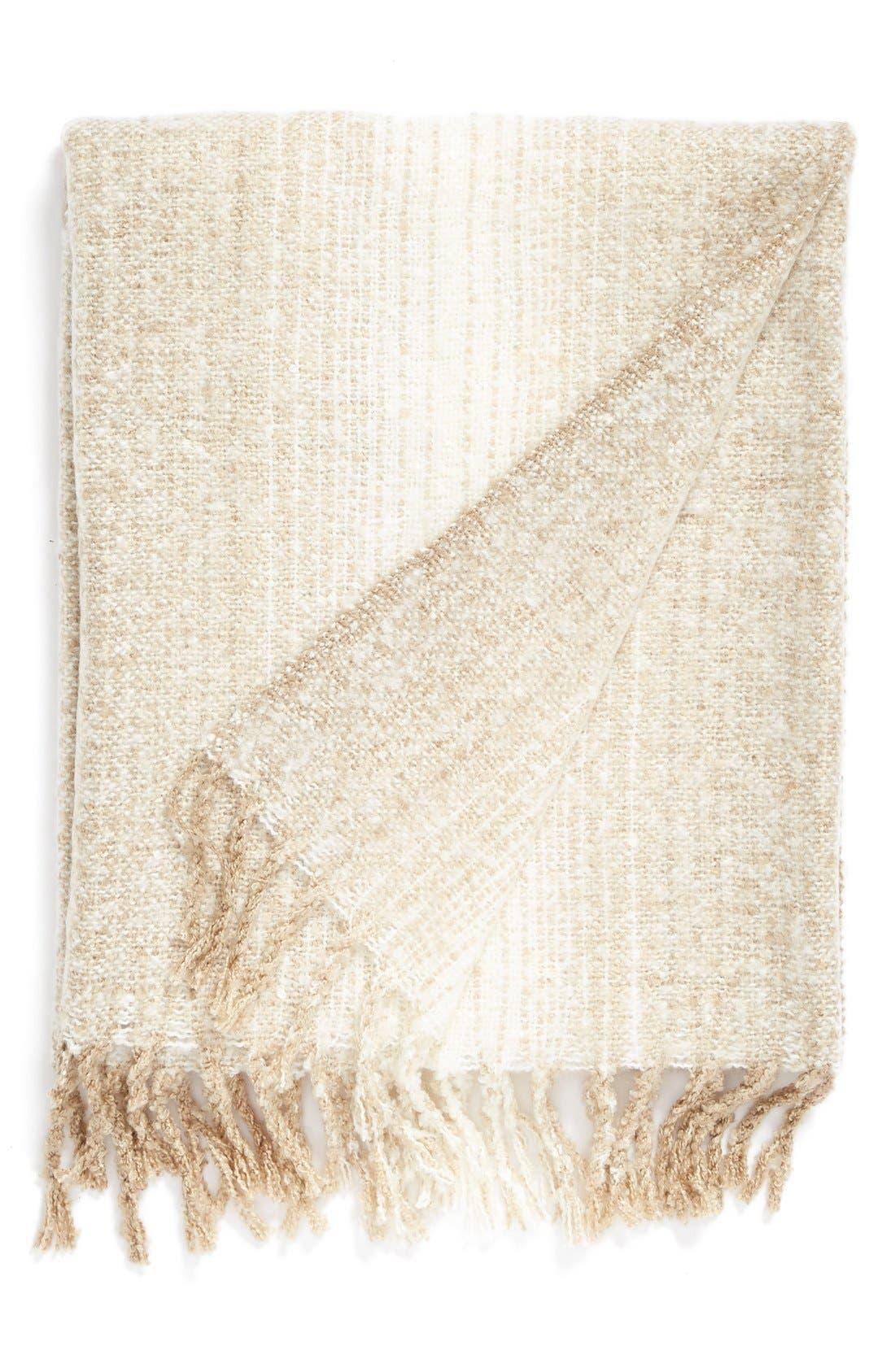 Alternate Image 1 Selected - Nordstrom at Home Brushed Ombré Throw Blanket