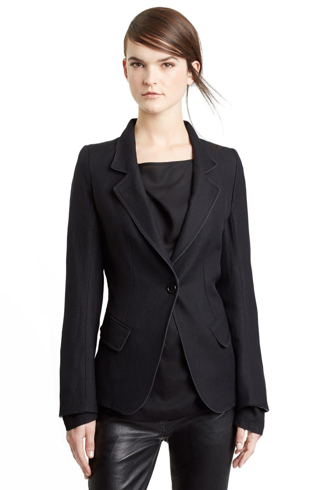 Alternate Image 1 Selected - Ann Demeulemeester Wool & Linen One-Button Jacket
