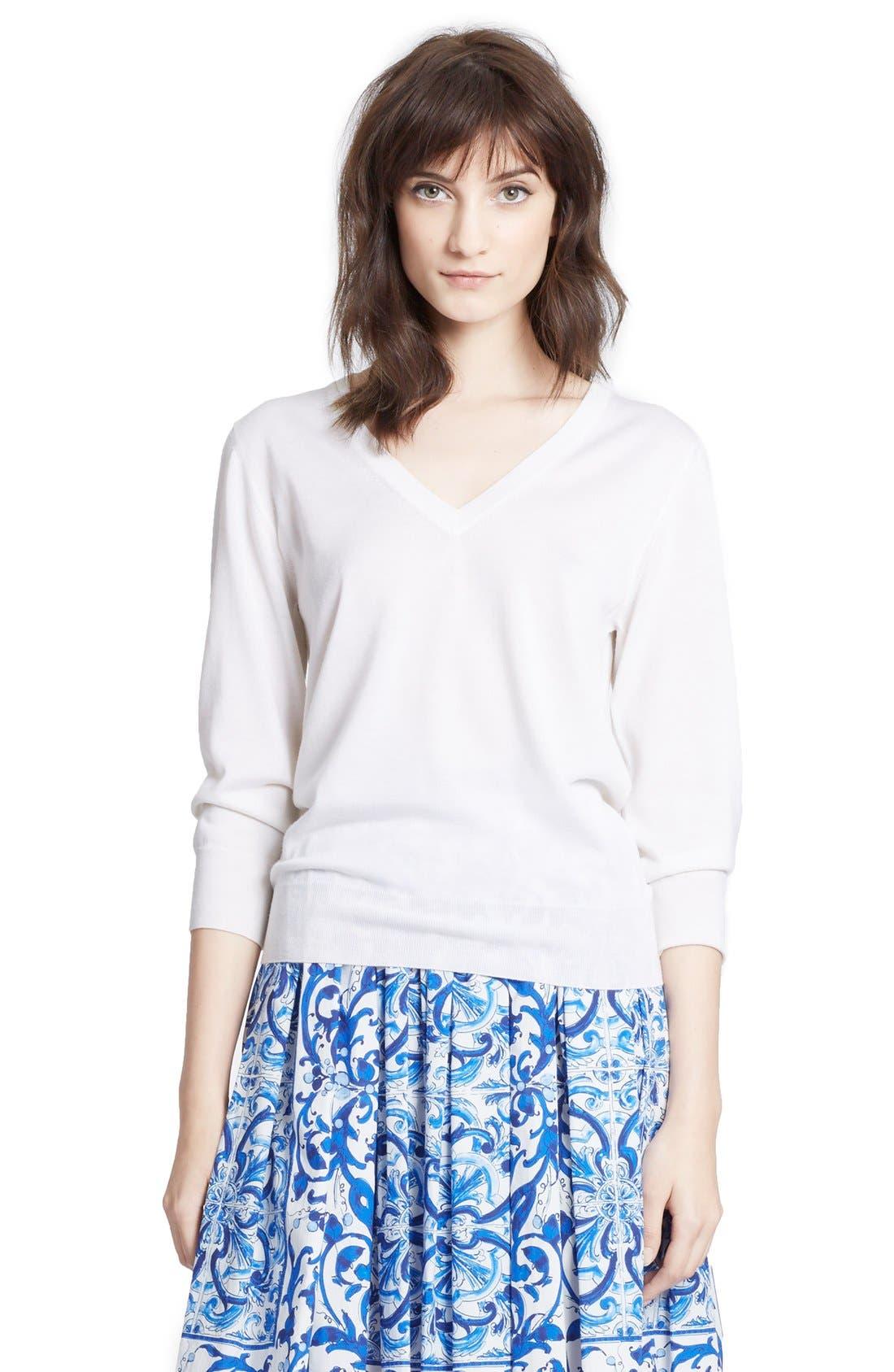 Alternate Image 1 Selected - Dolce&Gabbana V-Neck Cashmere & Silk Sweater