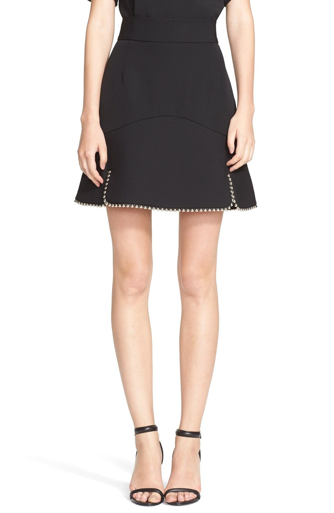 Alternate Image 1 Selected - Alexander Wang Ball Chain Trim Miniskirt