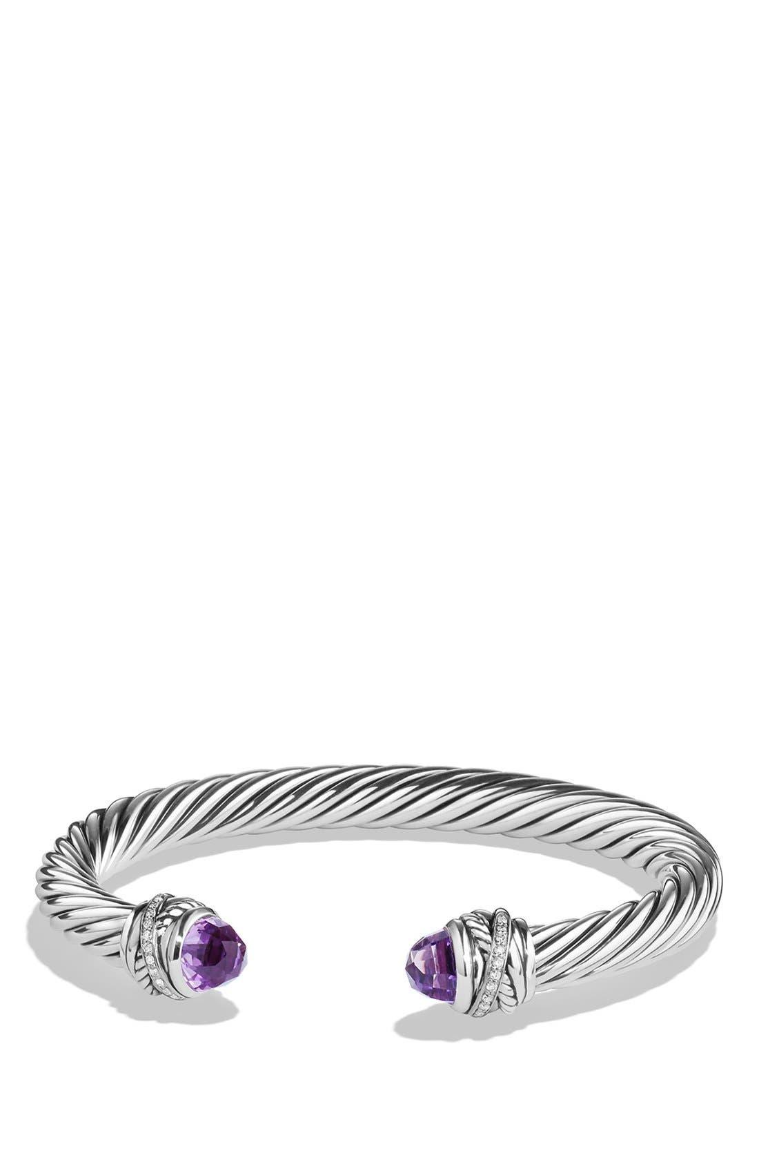 David Yurman 'Crossover' Bracelet with Diamonds
