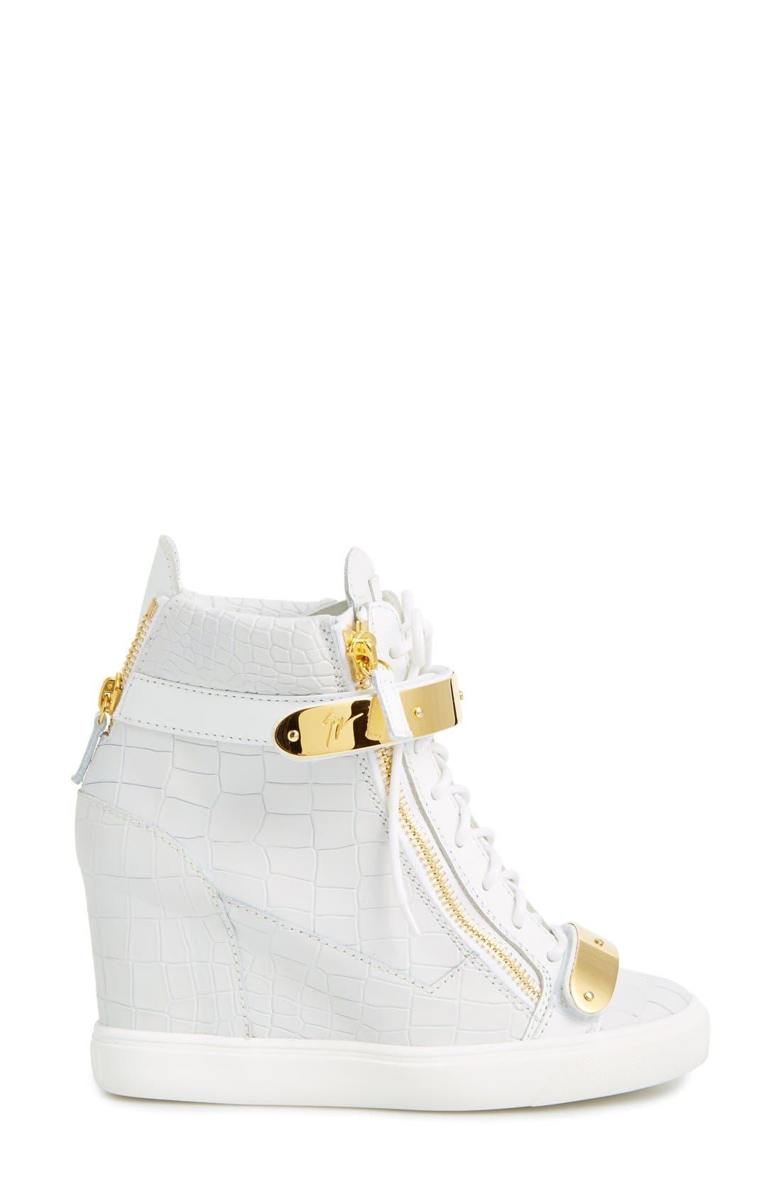Alternate Image 4  - Giuseppe Zanotti'Lorenz' Wedge Sneaker (Women)