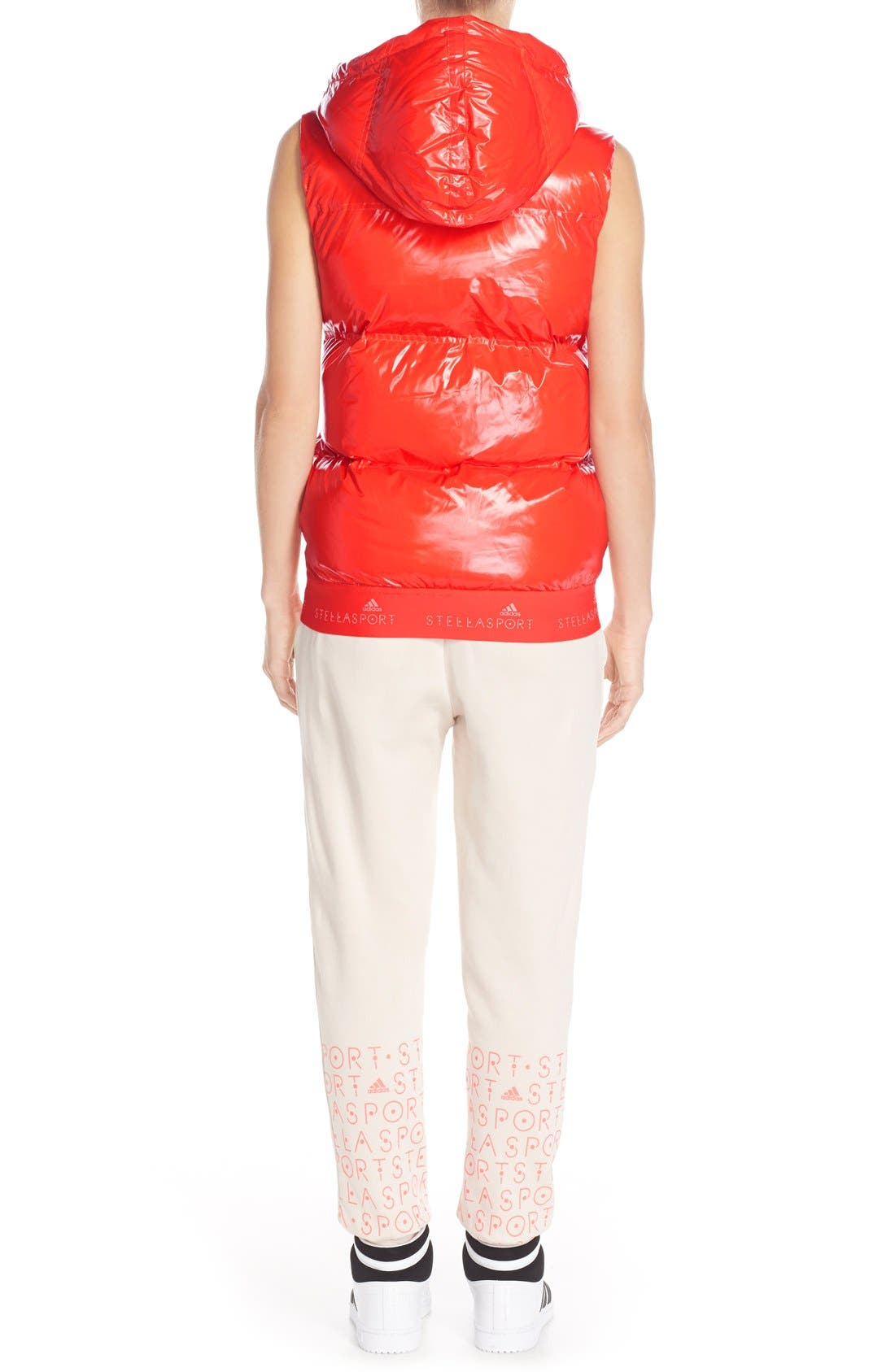 Alternate Image 6  - adidas by Stella McCartney Hooded Quilted Gilet