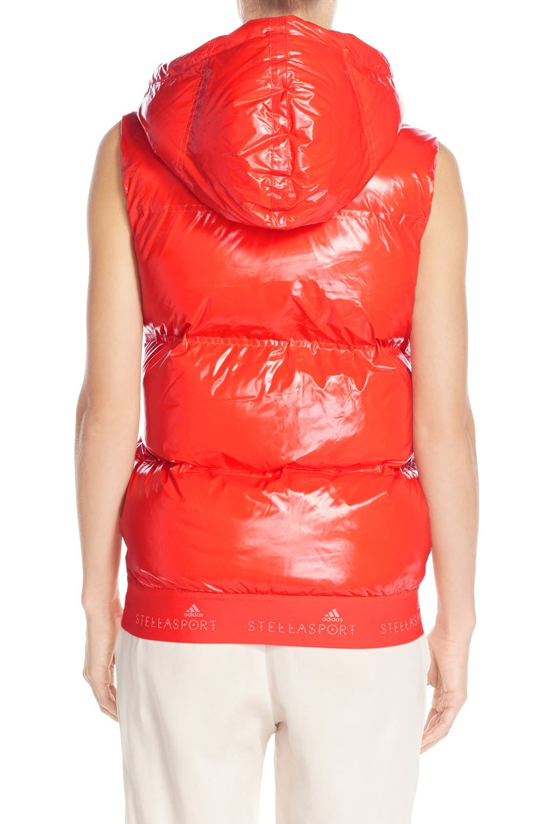 Alternate Image 2  - adidas by Stella McCartney Hooded Quilted Gilet
