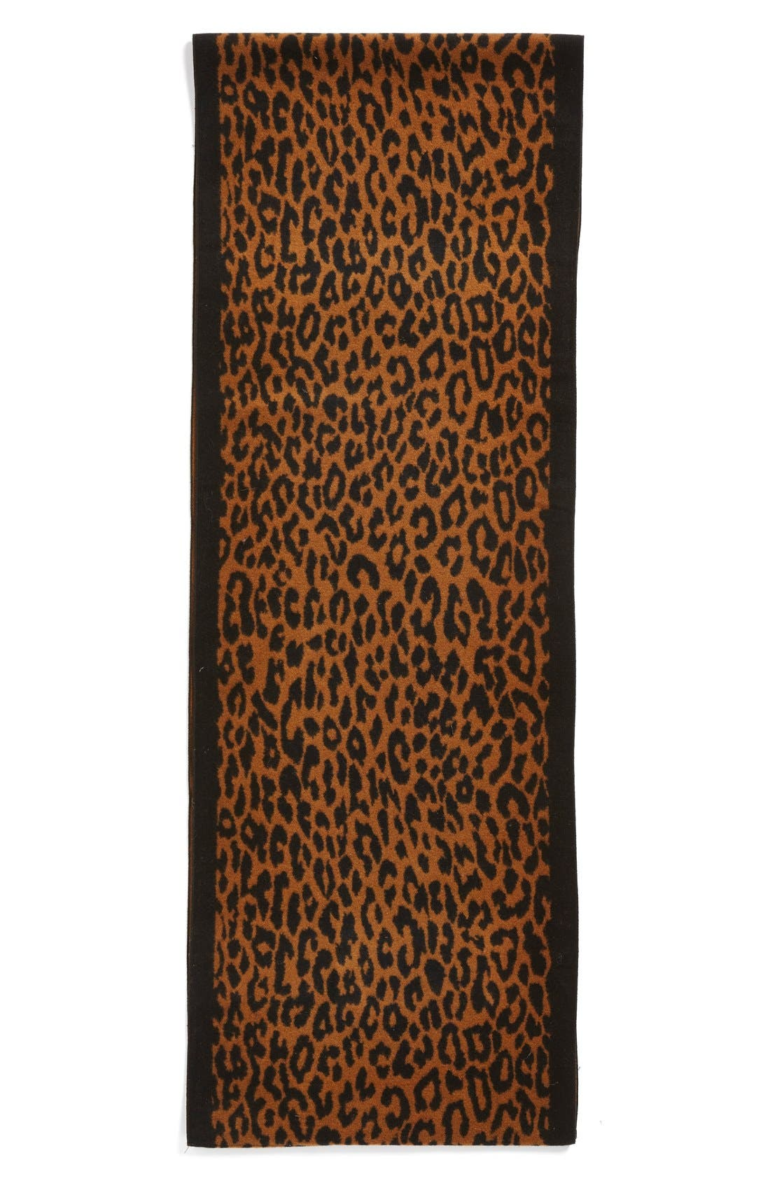 Alternate Image 3  - Chelsey Leopard Print Silk Infinity Scarf