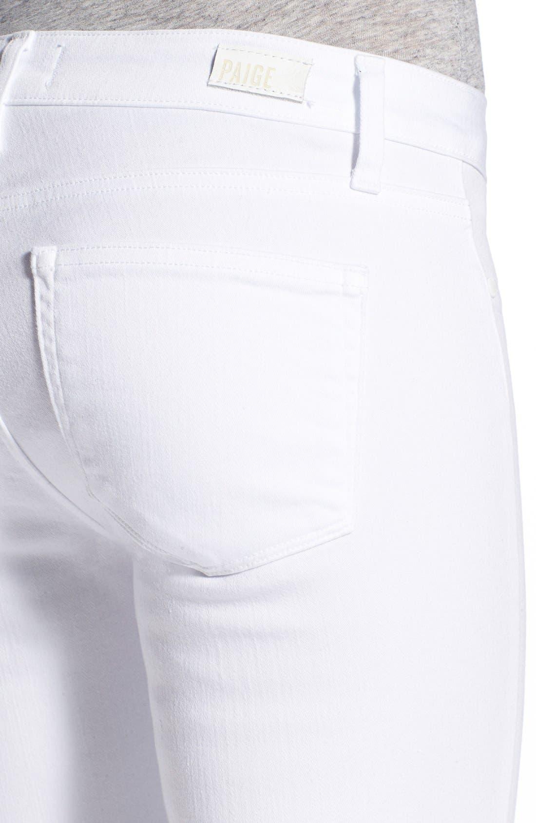 Alternate Image 5  - PAIGE 'Verdugo' Ankle Skinny Jeans (Ultra White)