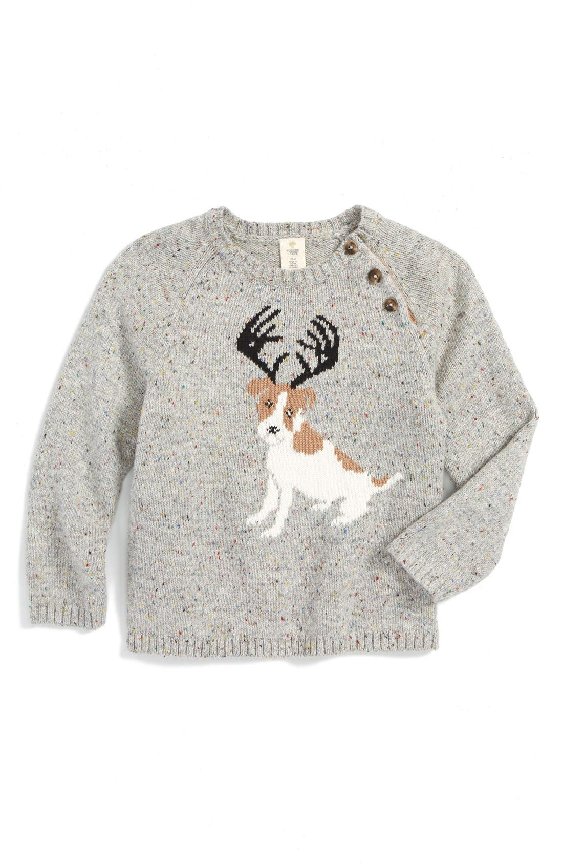 Alternate Image 1 Selected - Tucker + Tate 'Reindeer Dog' Intarsia Knit Sweater (Baby Boys)