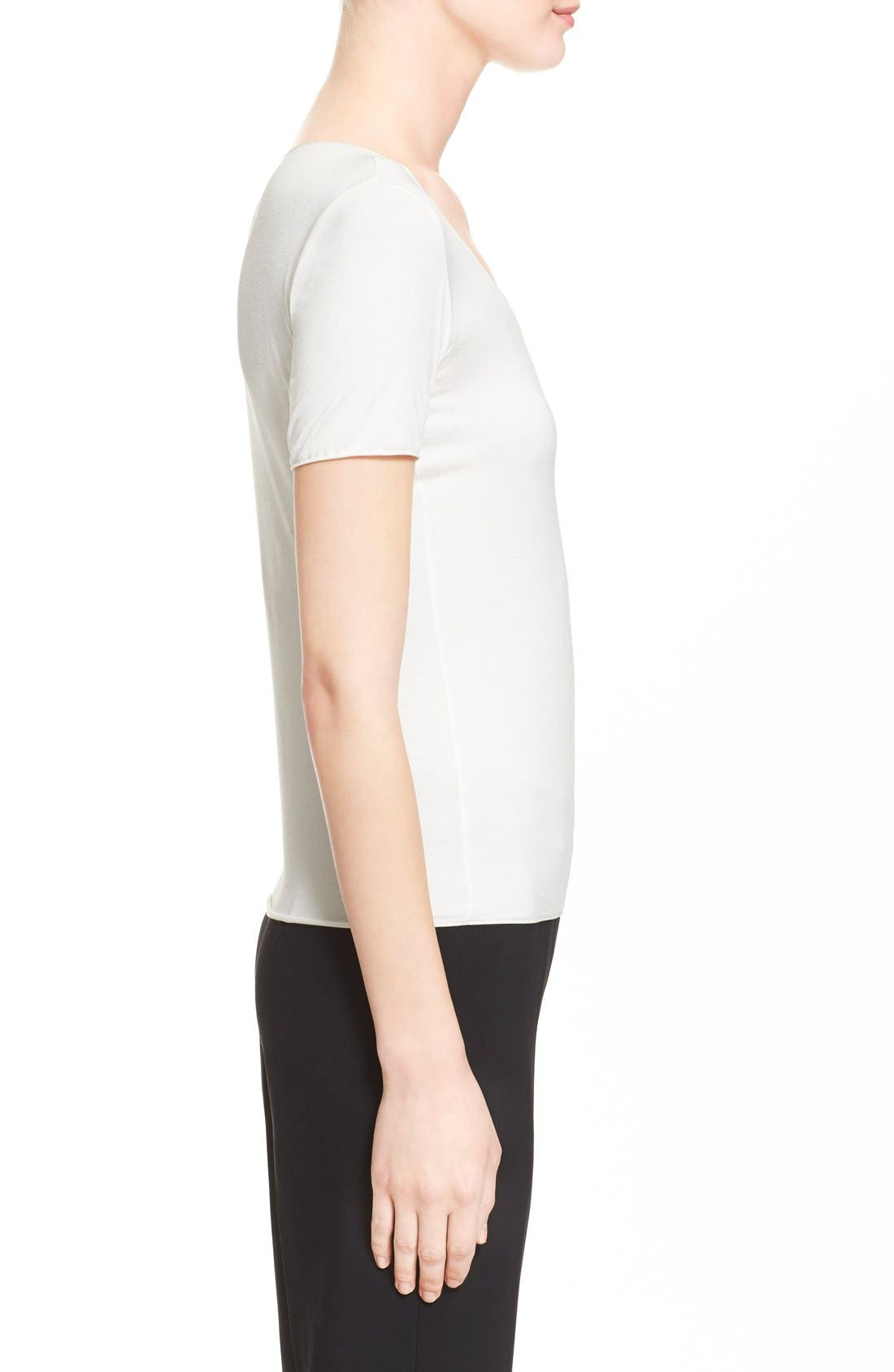 Alternate Image 5  - Armani Collezioni Short Sleeve Jersey Tee