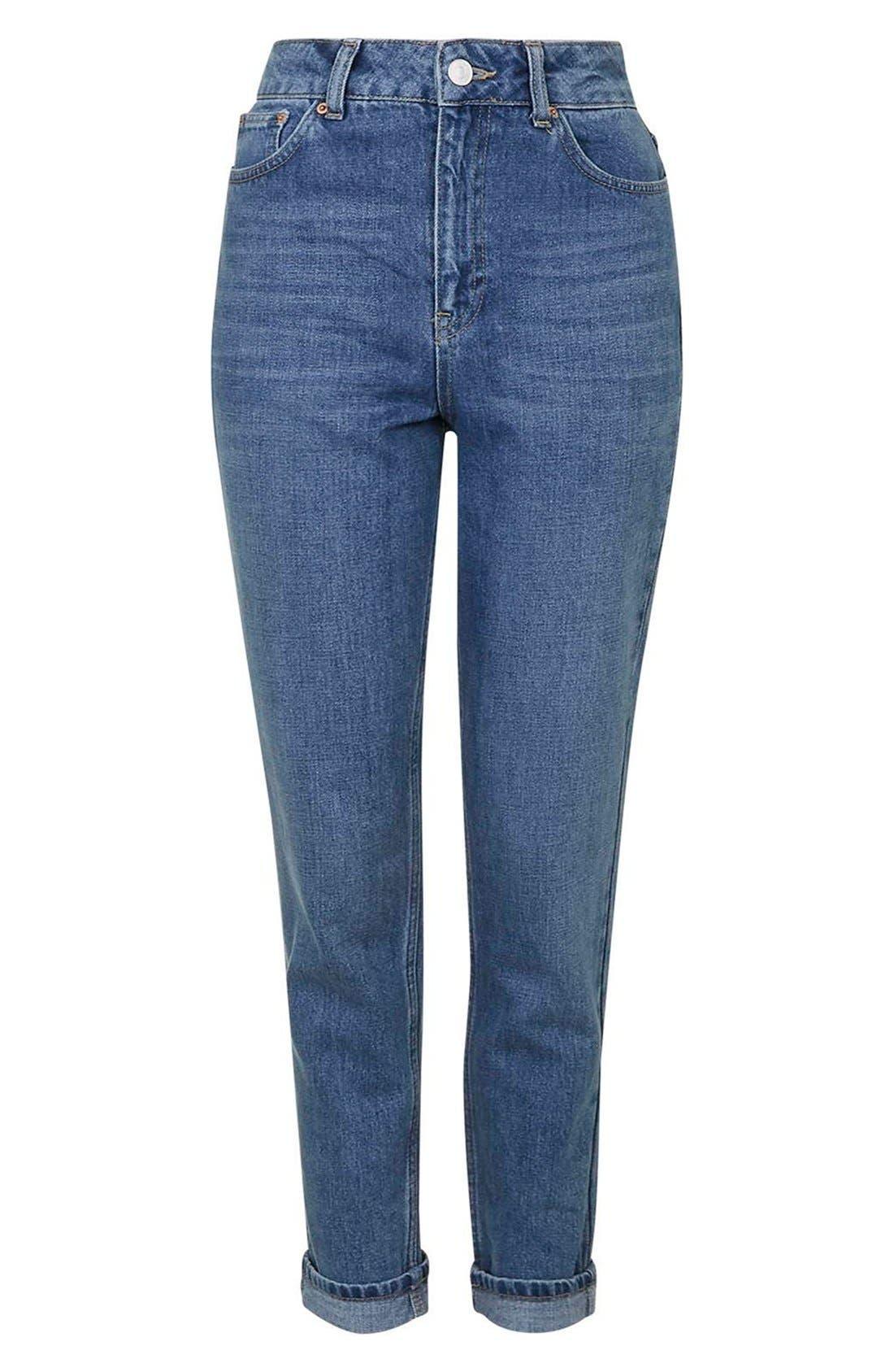 Alternate Image 4  - Topshop Moto High Rise Crop Jeans (Dark Denim)