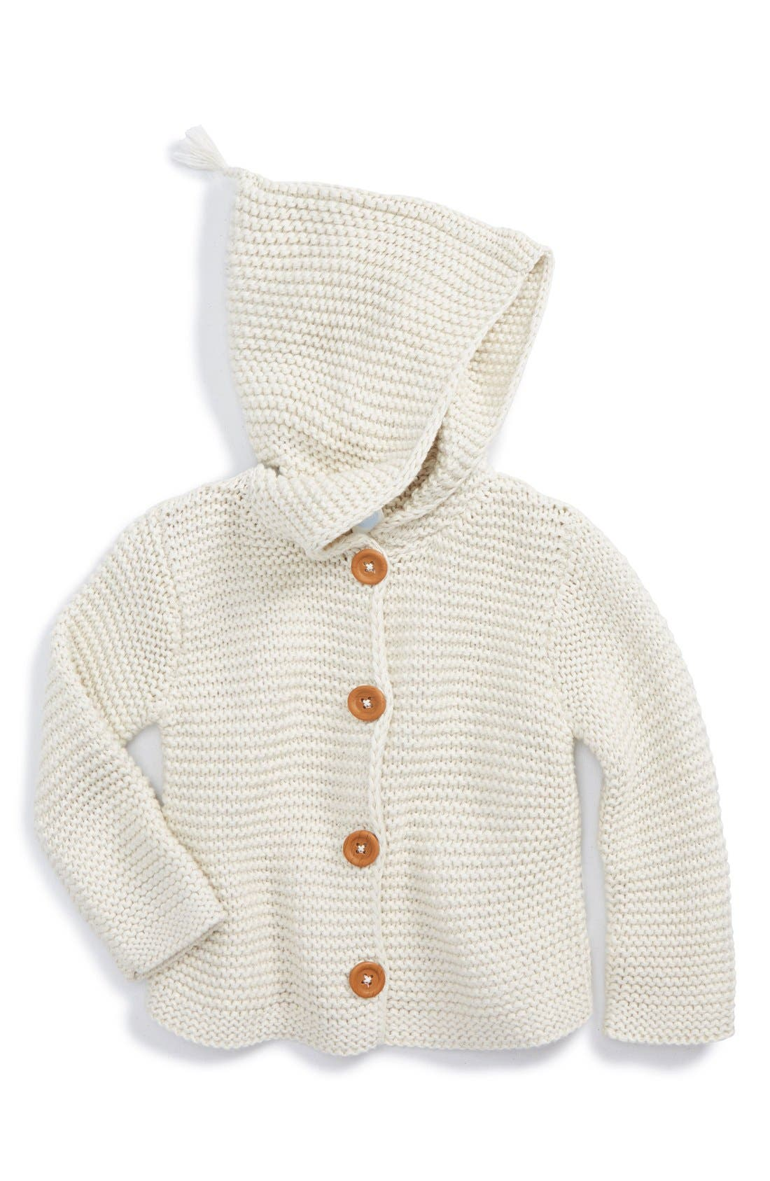 STEM BABY Organic Cotton Hooded Cardigan