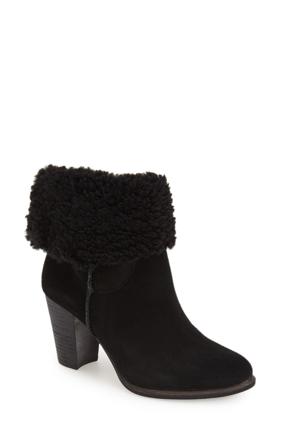 Alternate Image 1 Selected - UGG® Australia 'Charlee' Shearling Cuff Bootie (Women)
