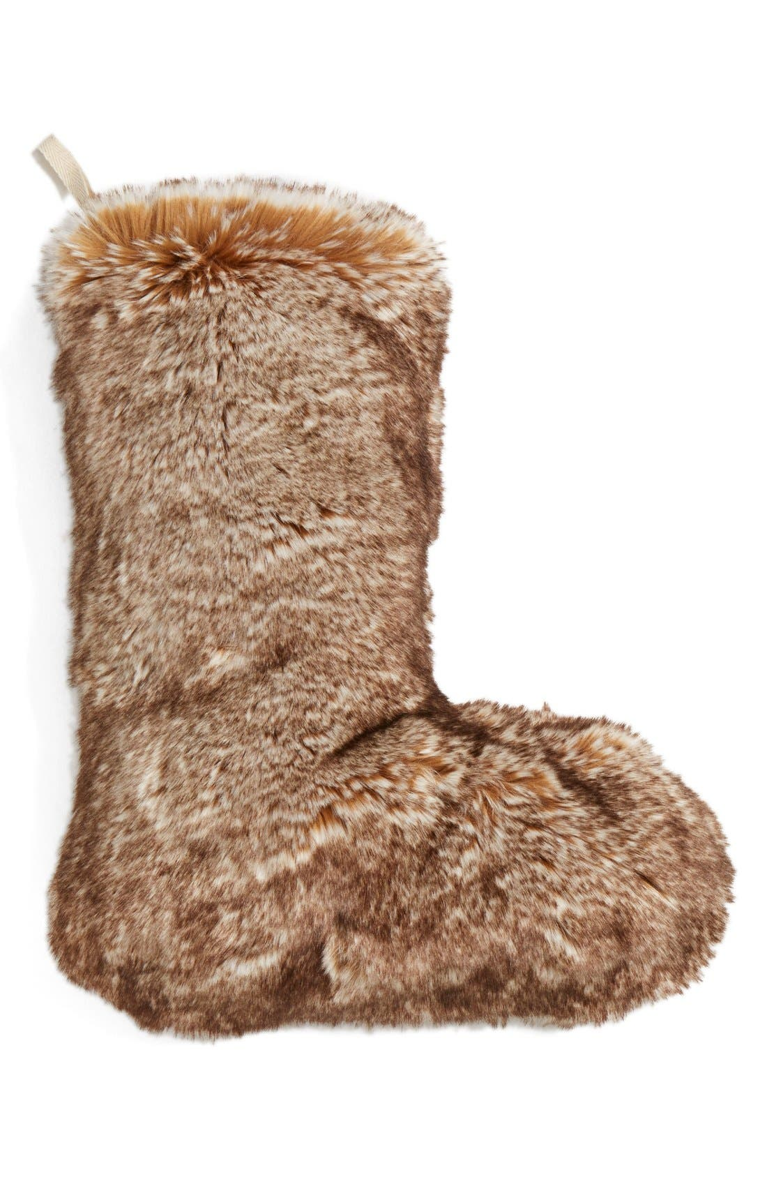 Main Image - Nordstrom at Home 'Cuddle Up' Faux Fur Stocking