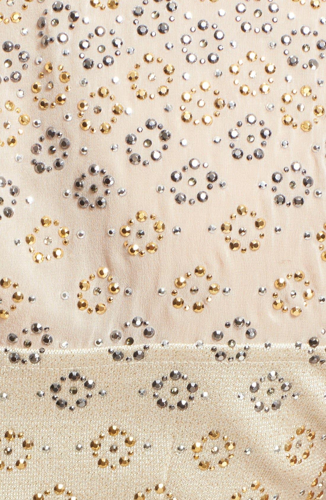 Alternate Image 3  - St. John Collection Crystal Embellished Shimmer Milano Knit Gown