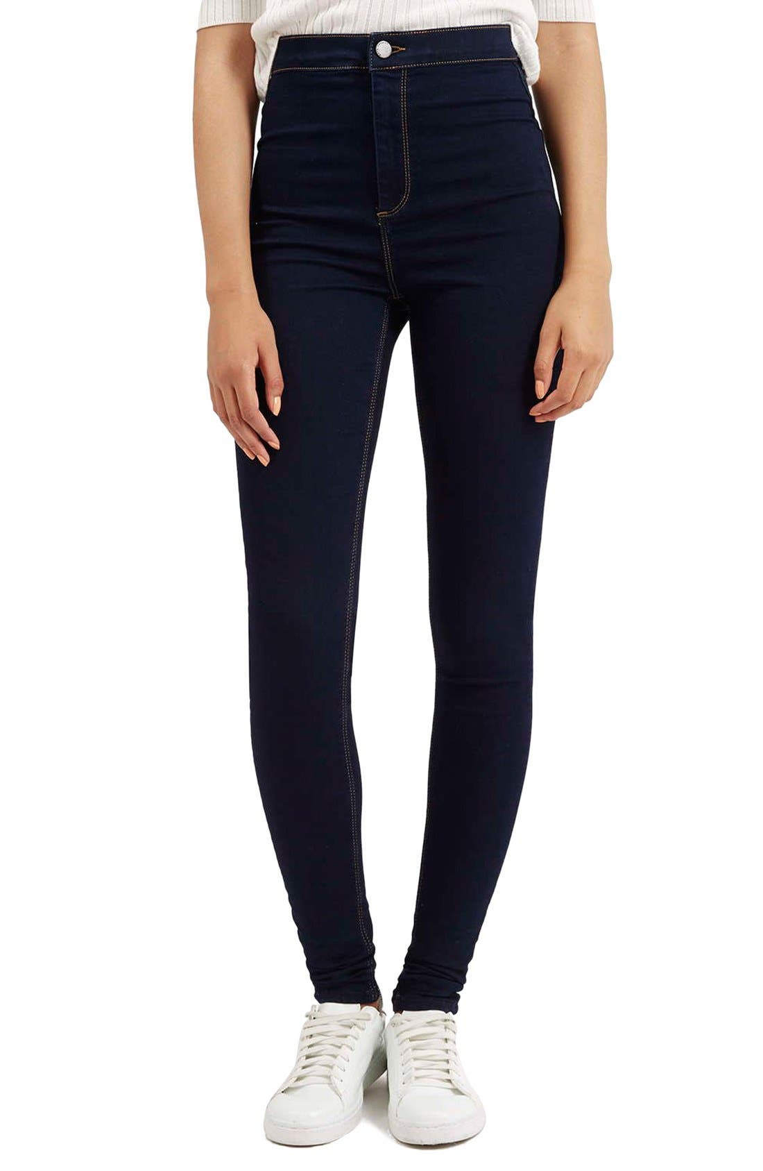 Alternate Image 1 Selected - Topshop Moto 'Joni' Super Skinny Jeans (Mid Denim) (Tall)