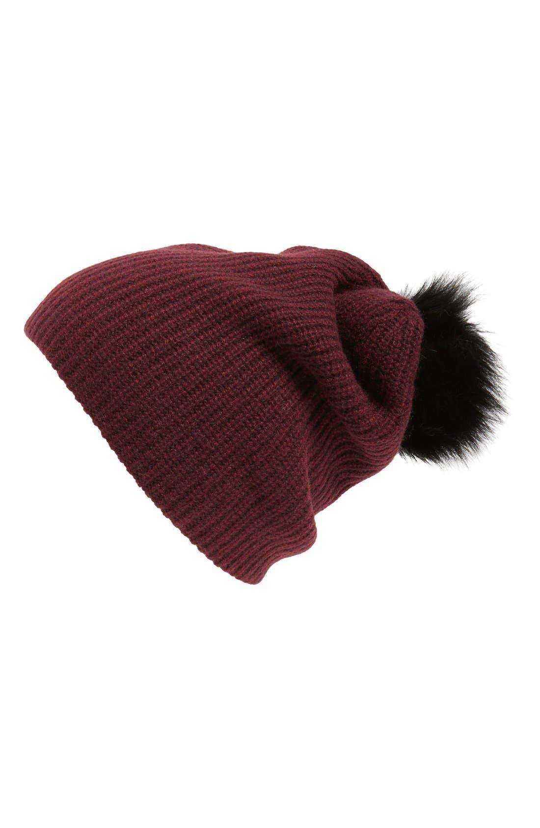 Alternate Image 1 Selected - rag & bone 'Cynthia' Cashmere & Wool Beanie with Genuine Shearling Pompom