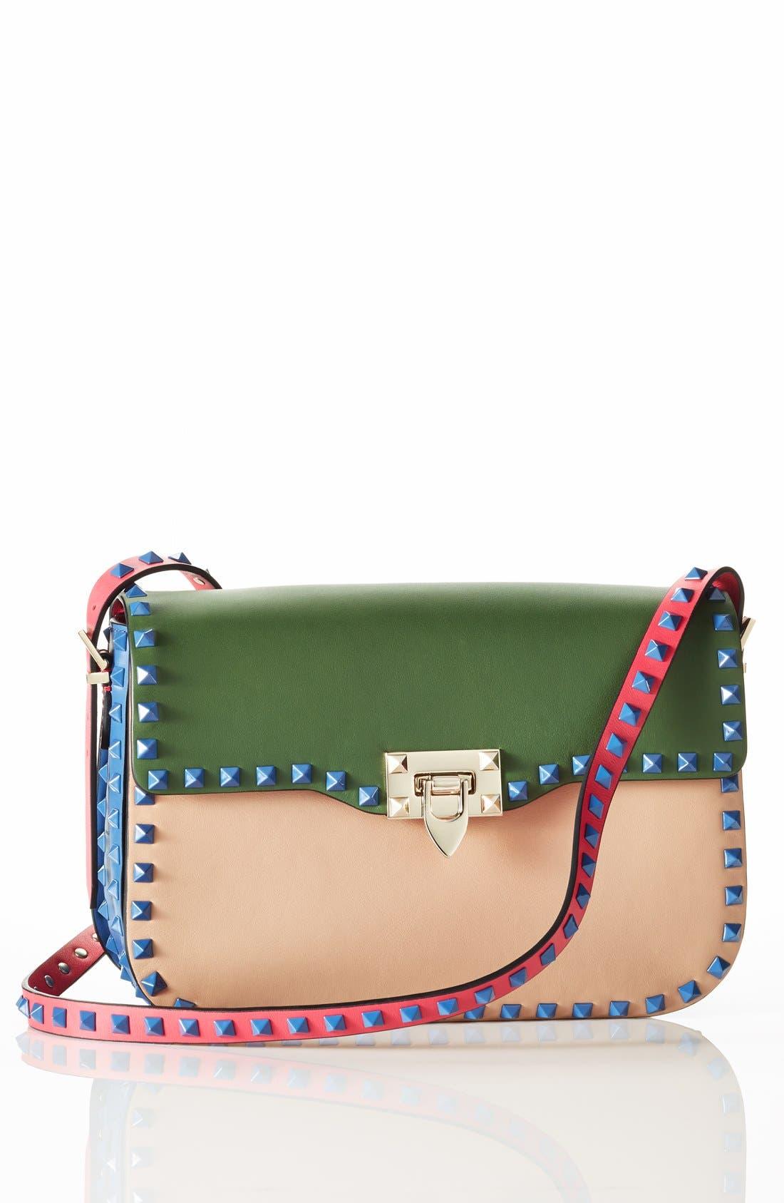 Alternate Image 6  - Valentino 'Rockstud' Colorblock Shoulder Bag