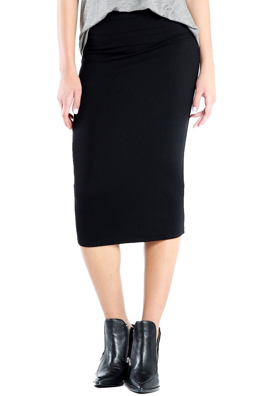 Michael Stars Convertible Jersey Pencil Skirt