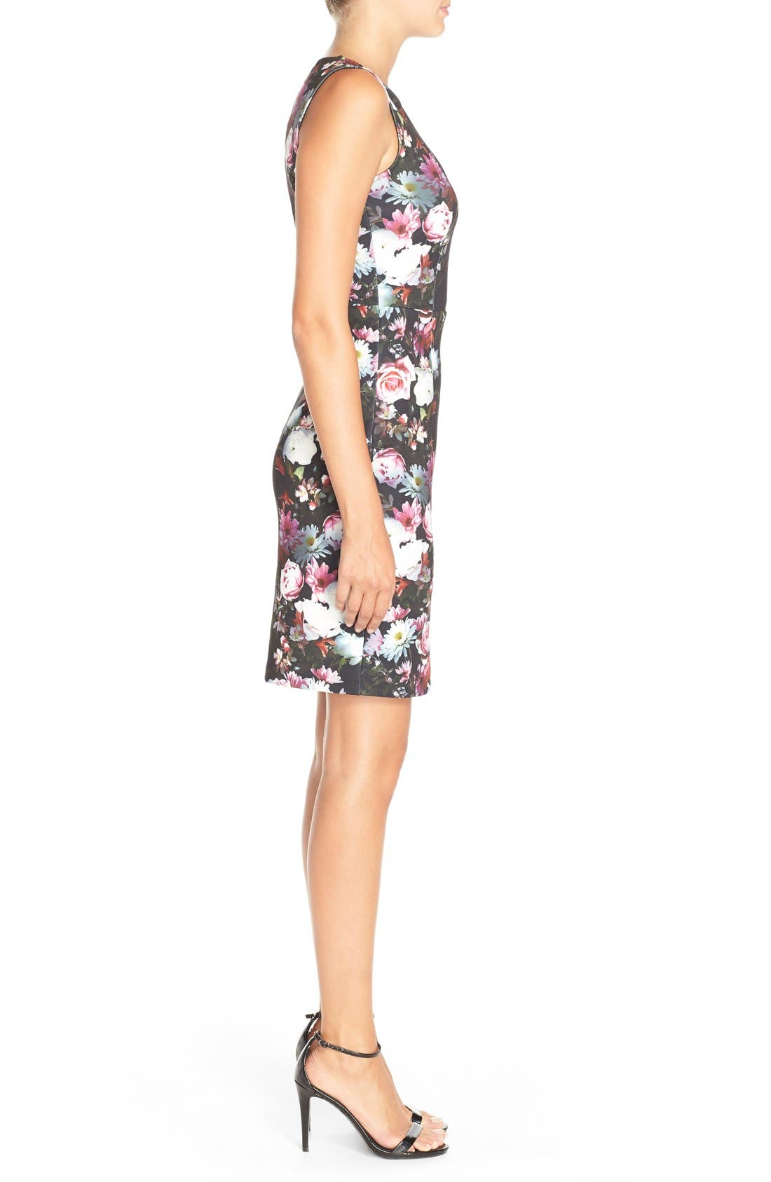 Alternate Image 3  - Felicity & Coco Floral Print Scuba Sheath Dress (Regular & Petite) (Nordstrom Exclusive)