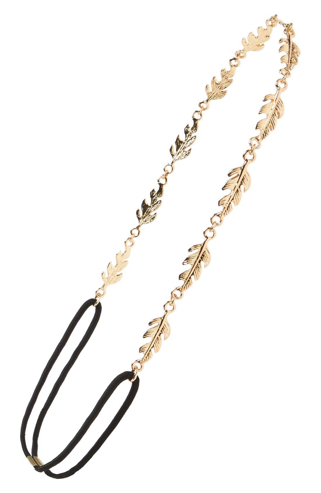 Main Image - BP. Metal Leaf Headband