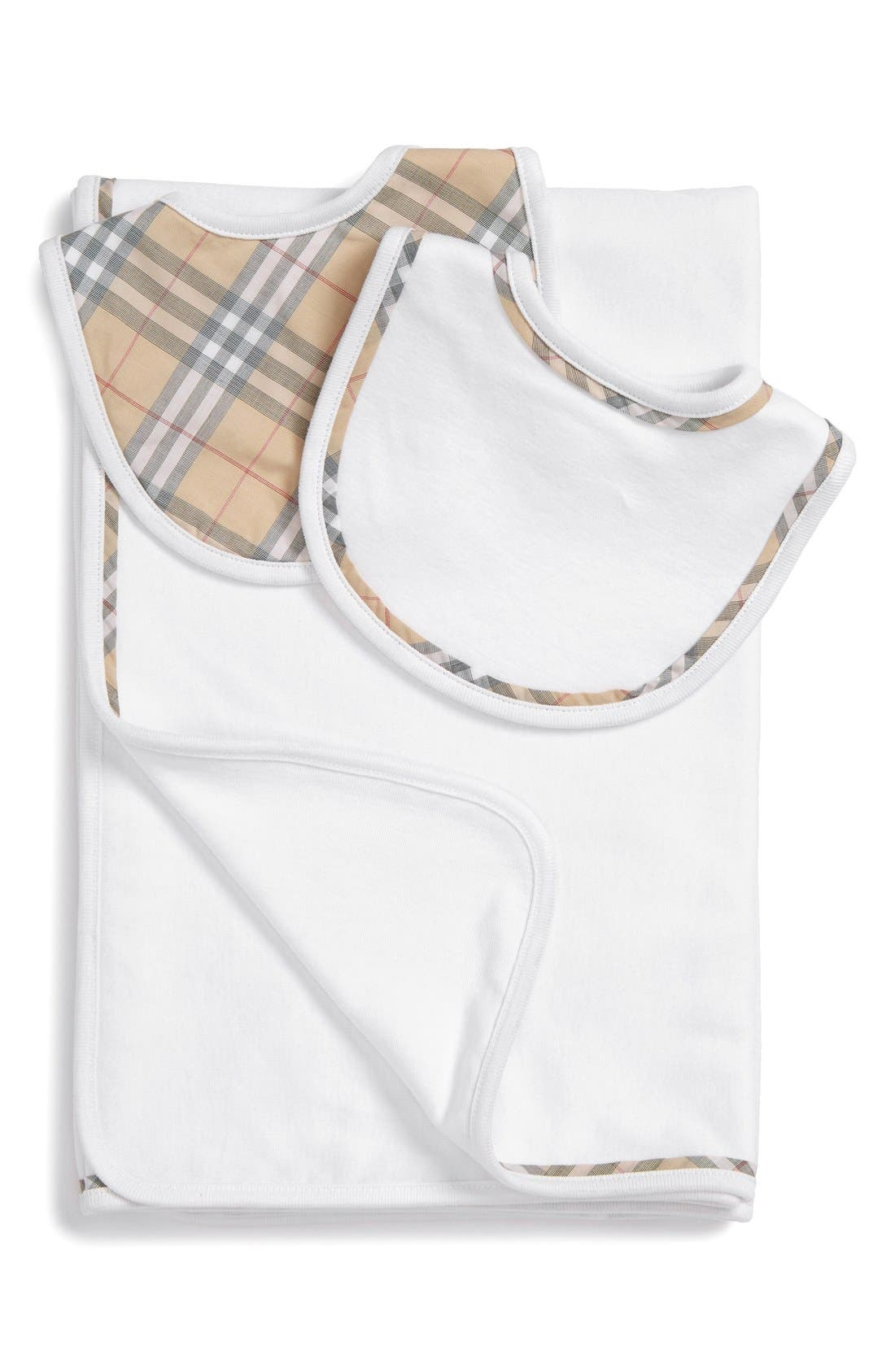 Burberry Blanket and Bibs Set (Baby)