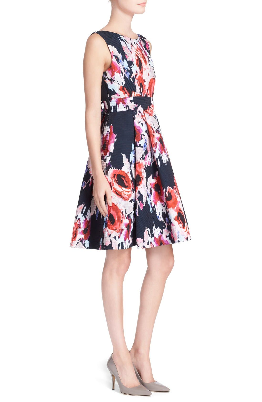 Alternate Image 3  - kate spade new york floral print fit & flare dress