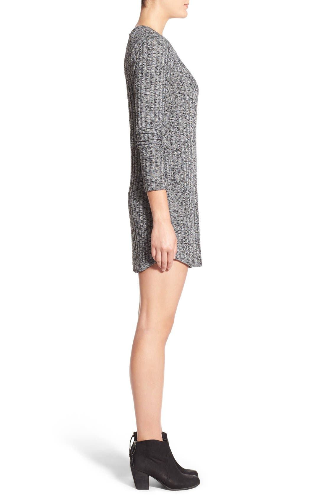 Alternate Image 4  - Everly Ribbed Long Sleeve Sweater Dress
