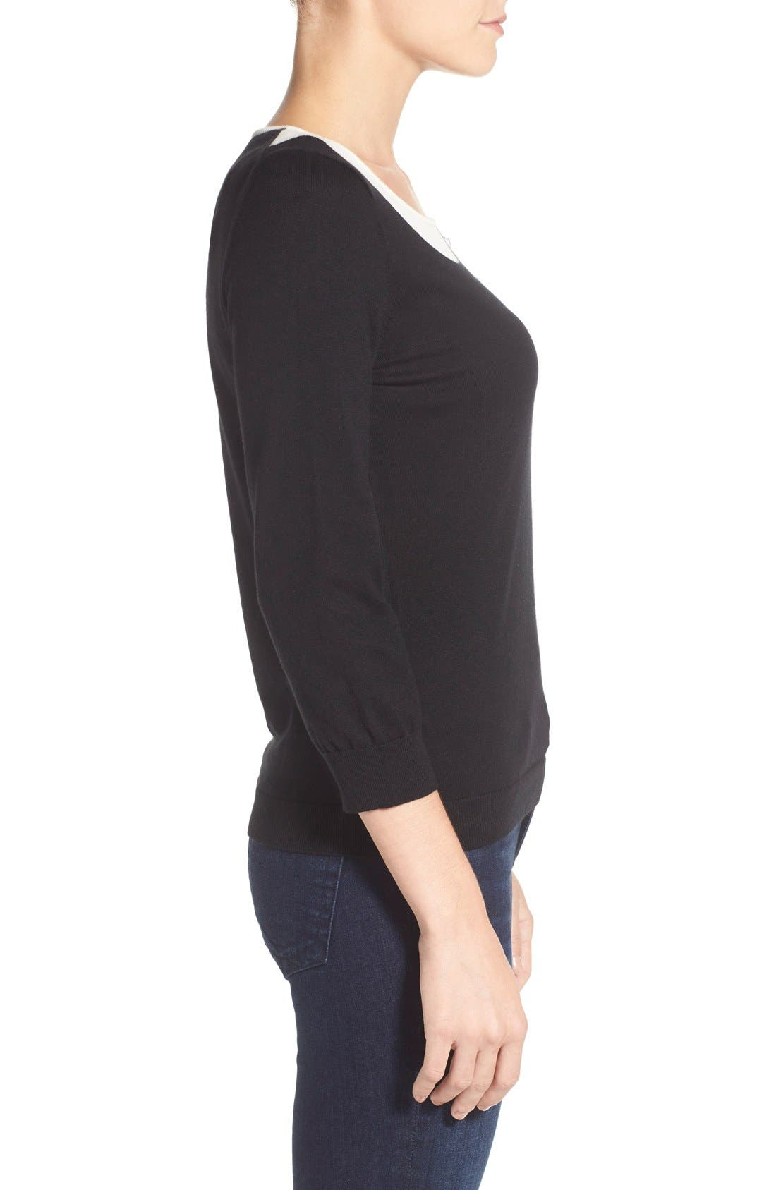 Alternate Image 3  - CeCe by Cynthia Steffe Peter Pan Collar Sweater