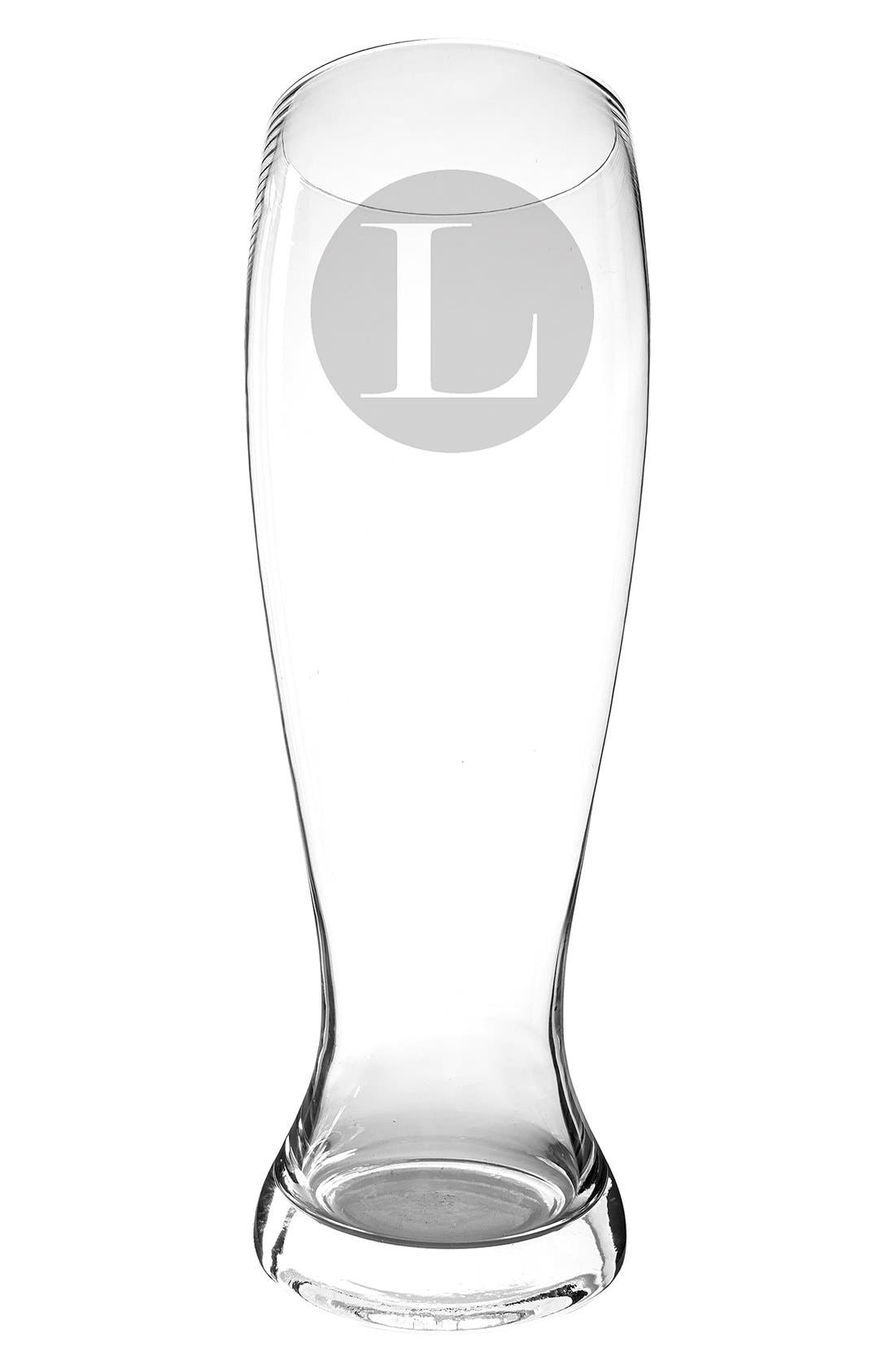 CATHY'S CONCEPTS 'XL' Monogram Novelty Pilsner Glass