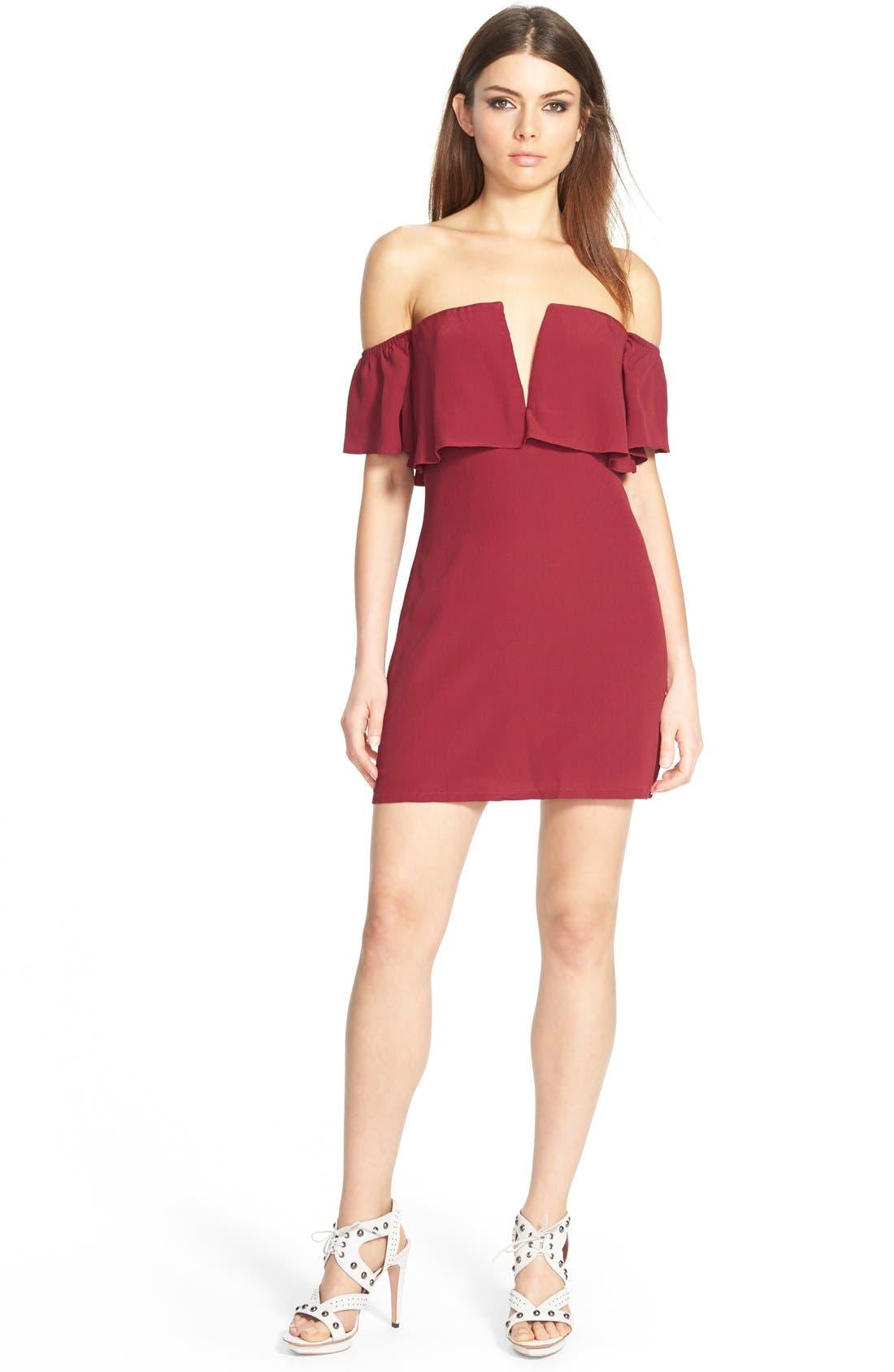 Main Image - Lovers + Friends 'Primrose' Offthe Shoulder Dress