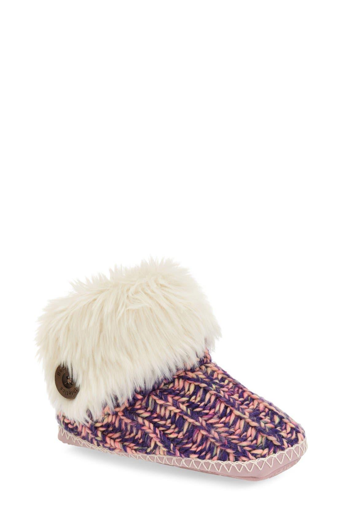 Main Image - Bedroom Athletics 'Toni' Faux Fur Knit Slipper Bootie (Women)