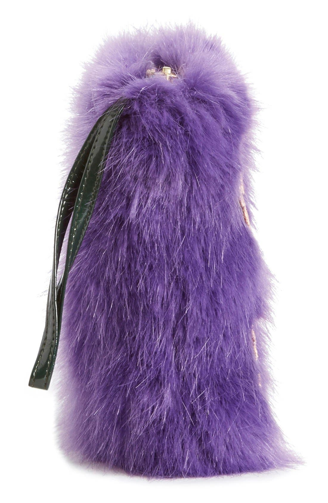 Alternate Image 4  - Shrimps 'Meadow' Faux Fur Clutch