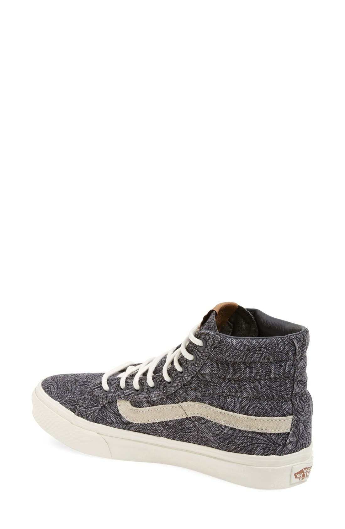 Alternate Image 2  - Vans 'Sk8-Hi Slim' Sneaker (Women)