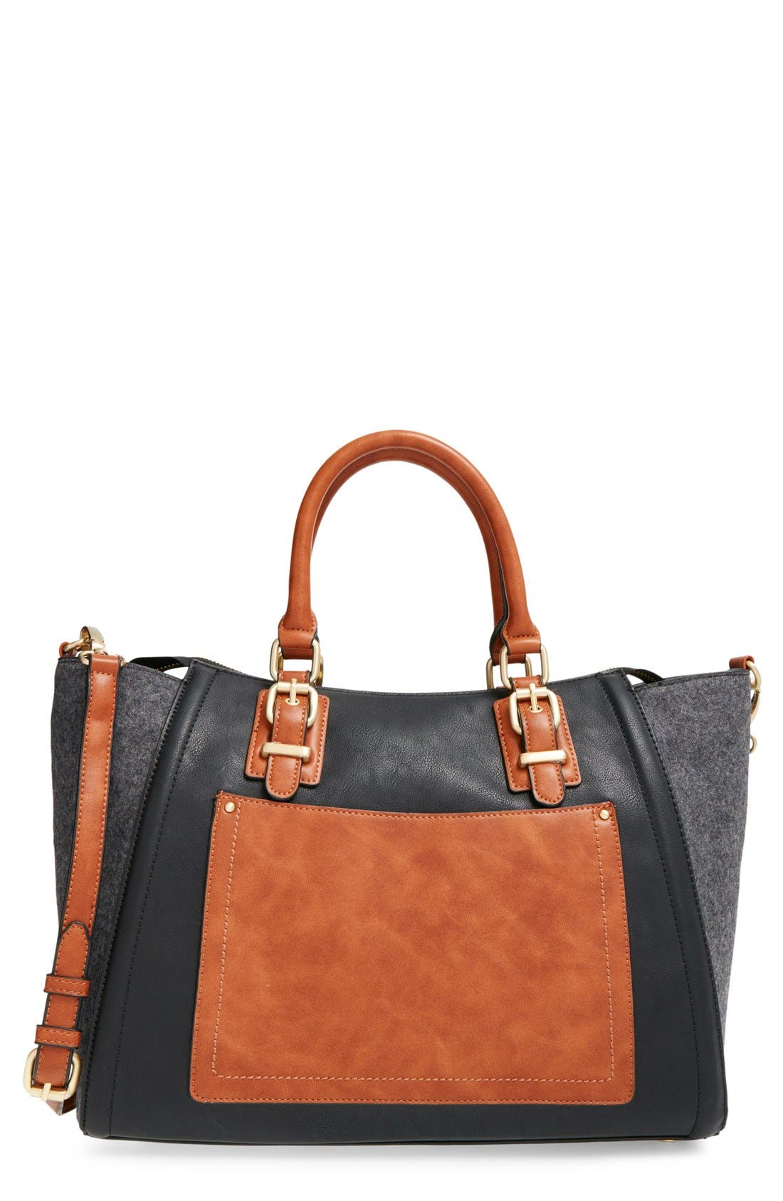 Alternate Image 1 Selected - Sole Society 'Jensen' Mixed Media Tote