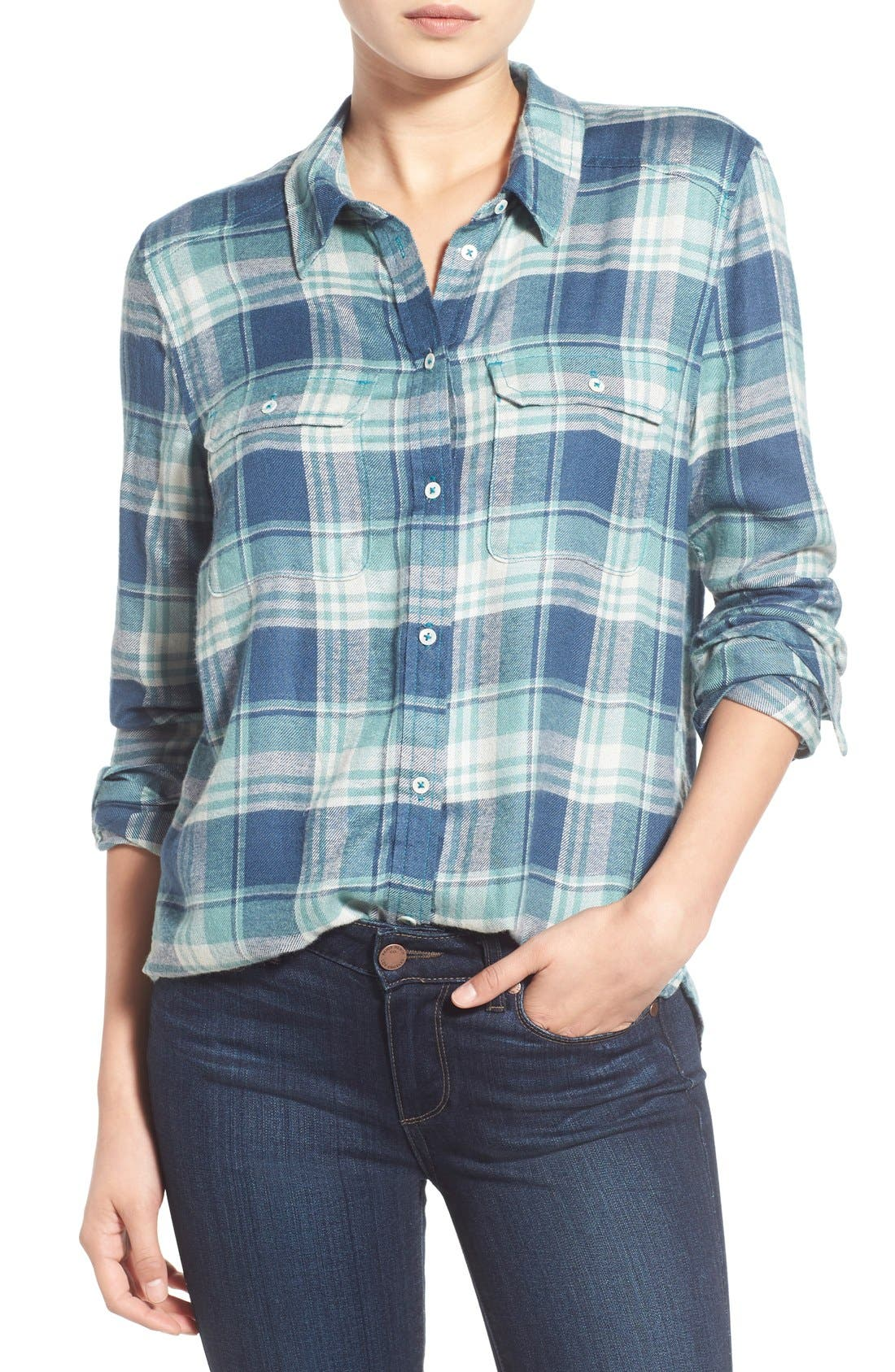 Alternate Image 1 Selected - Paige Denim 'Trudy' Plaid Shirt