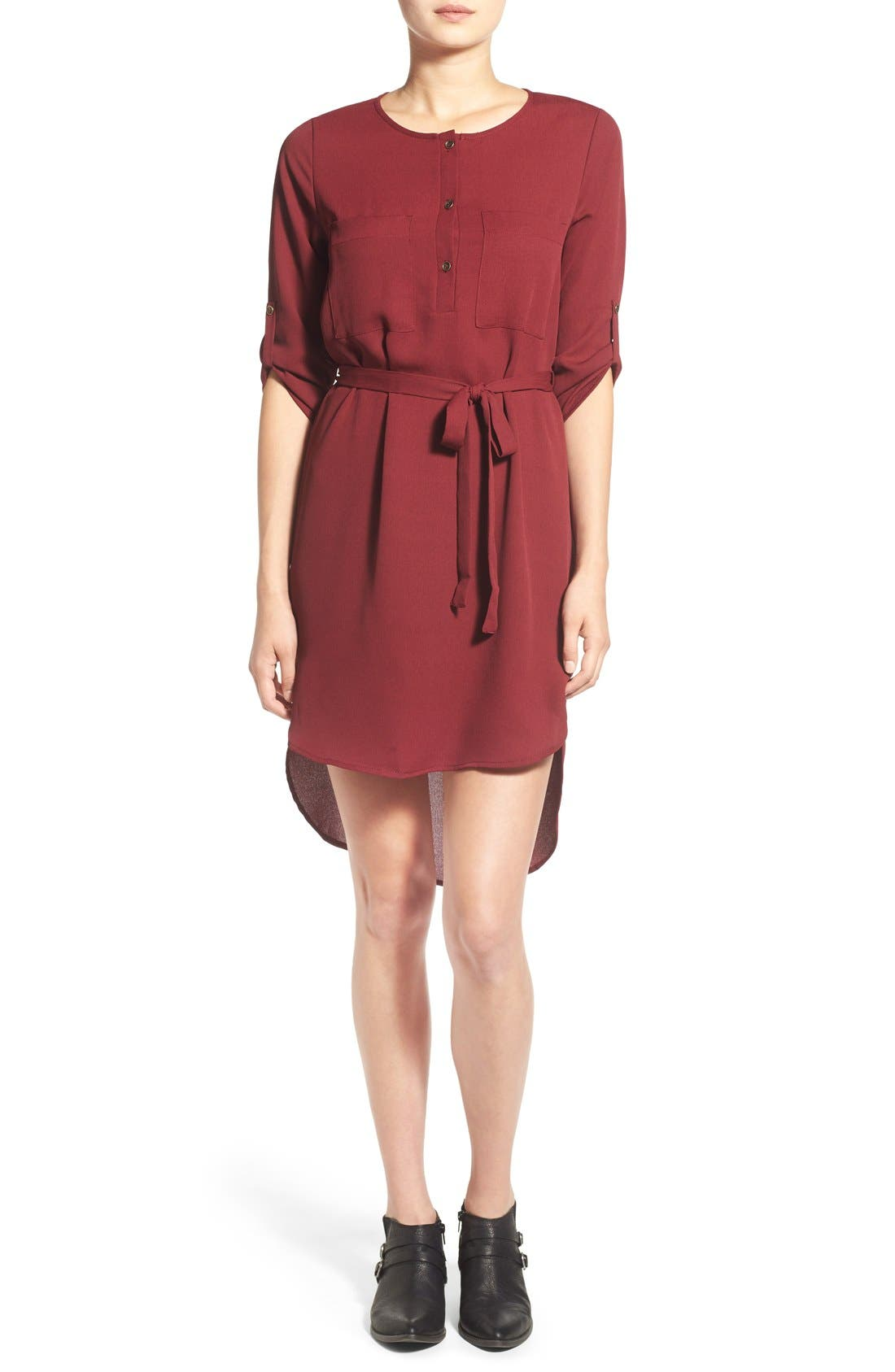 Alternate Image 1 Selected - jella c. Henley Shirt Dress