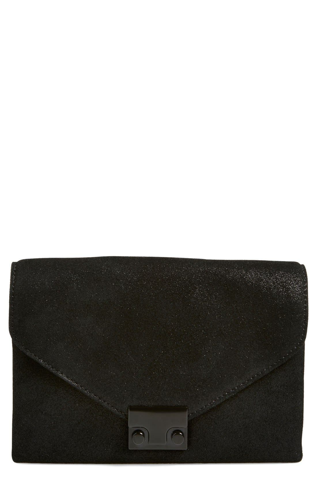 Alternate Image 1 Selected - Loeffler Randall 'Junior Lock' Leather Clutch