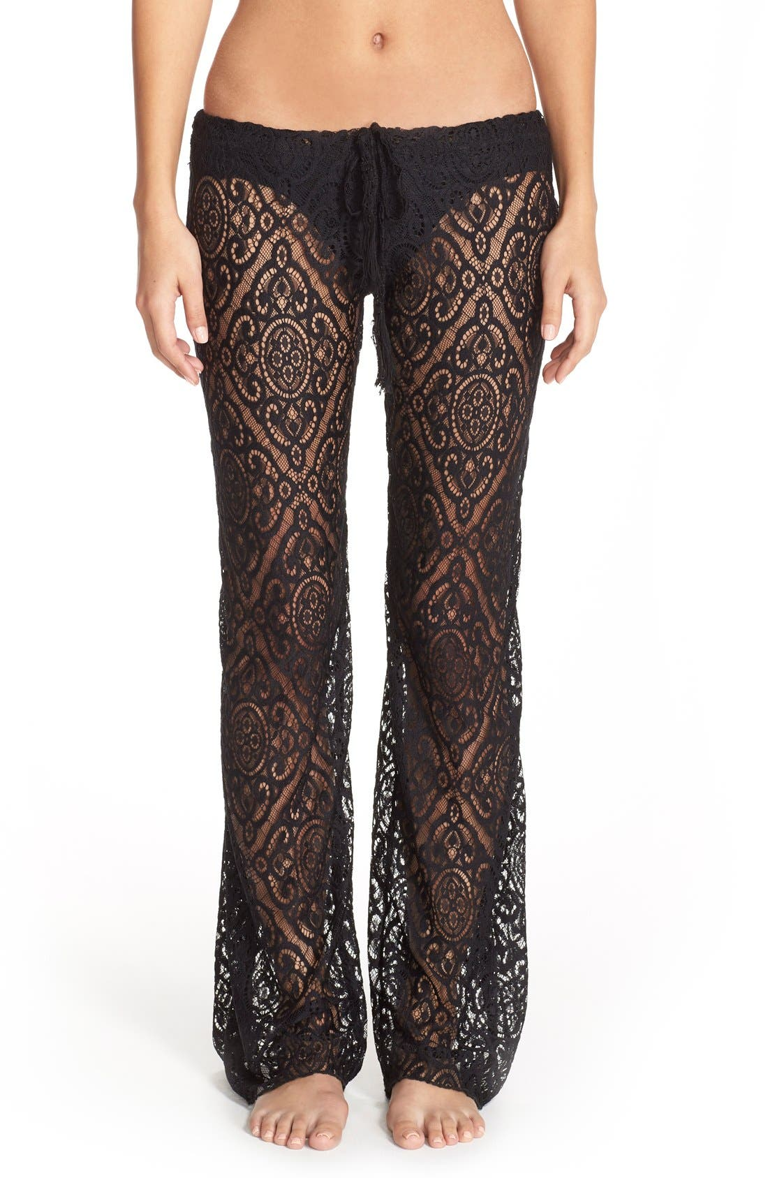 Main Image - Becca 'Amore' Lace Swim Cover Up Pants