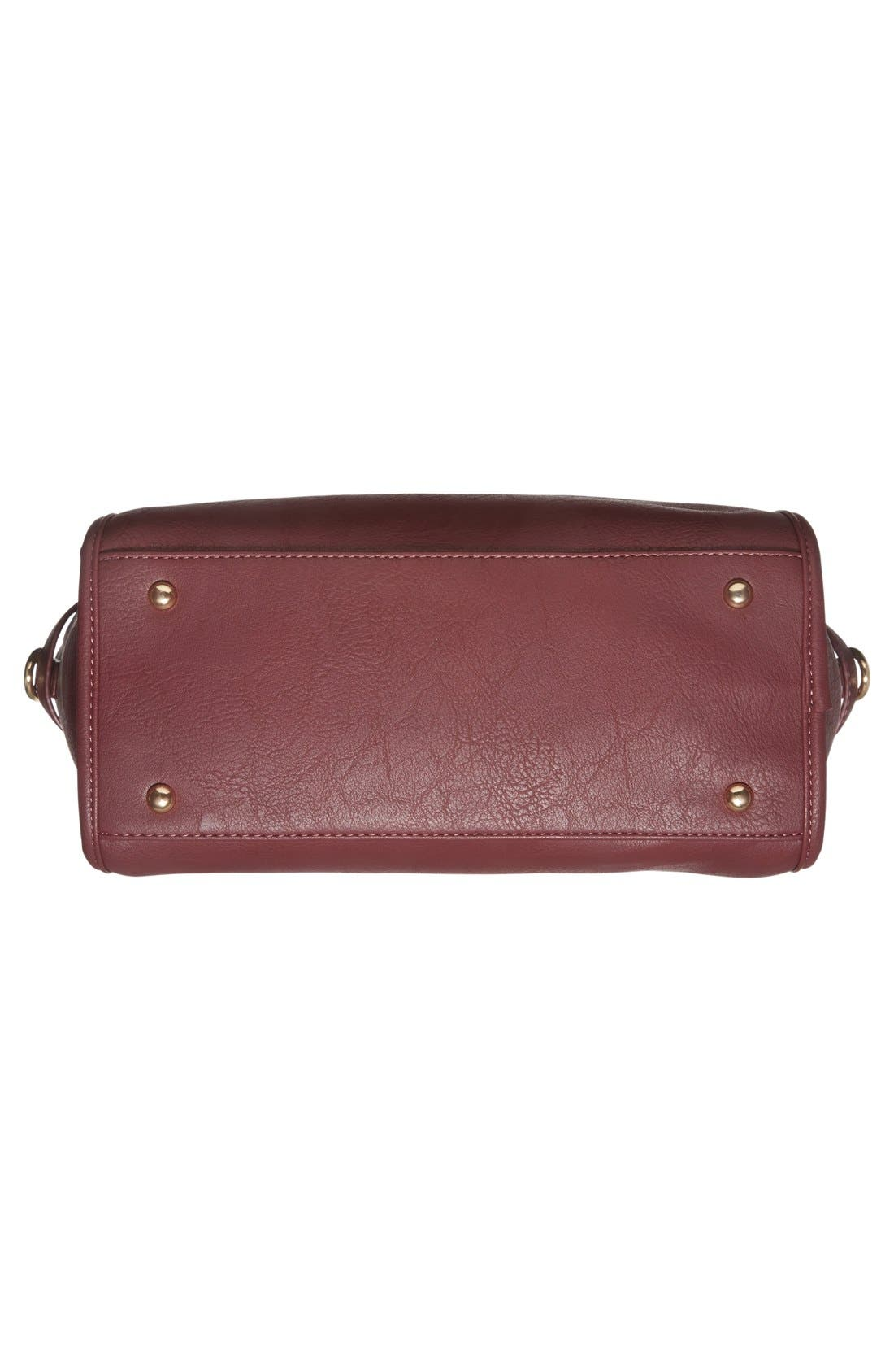 Alternate Image 6  - Cesca Faux Leather Crossbody Lock Satchel