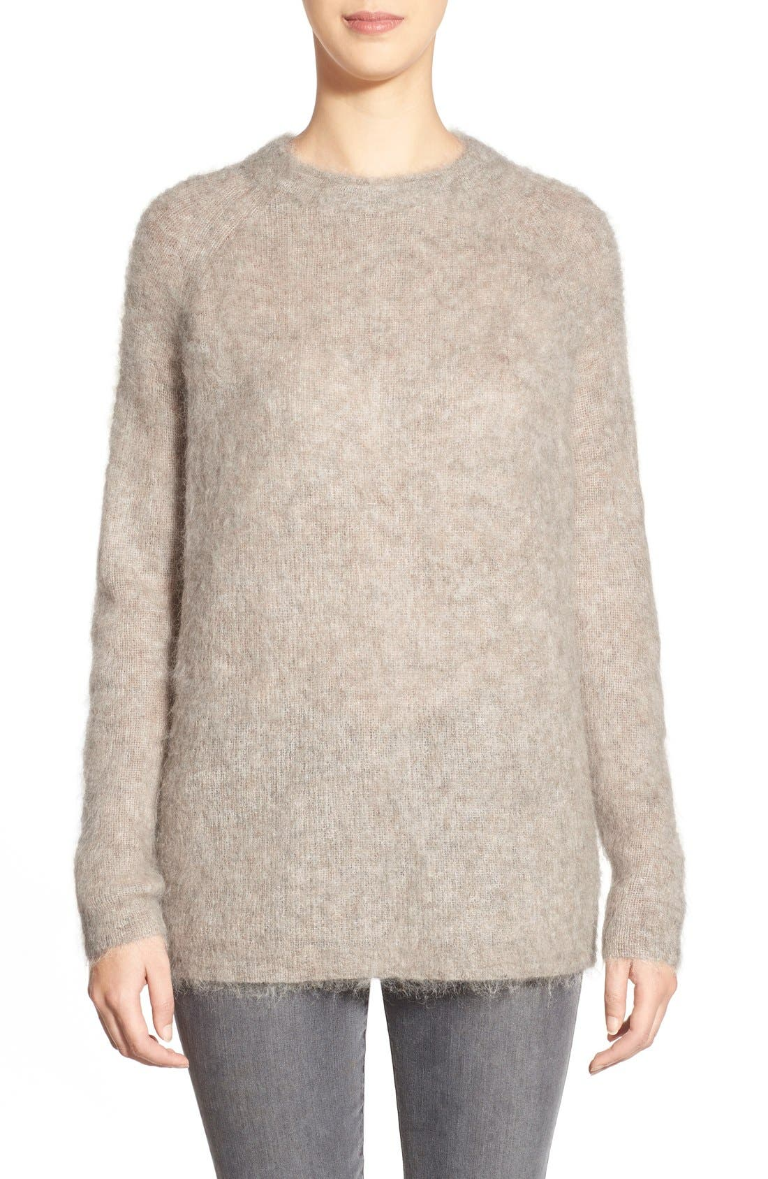 Alternate Image 1 Selected - Eileen Fisher Fuzzy Crewneck Sweater