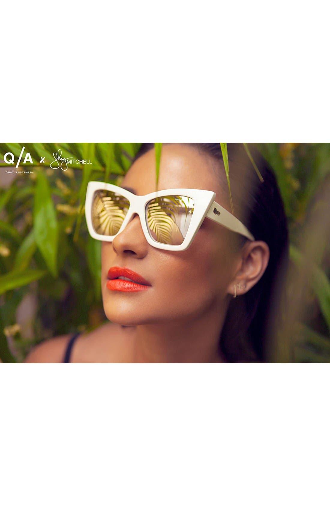 Alternate Image 2  - Quay Australia 56mm 'Vesper' Exaggerated Cat Eye Sunglasses