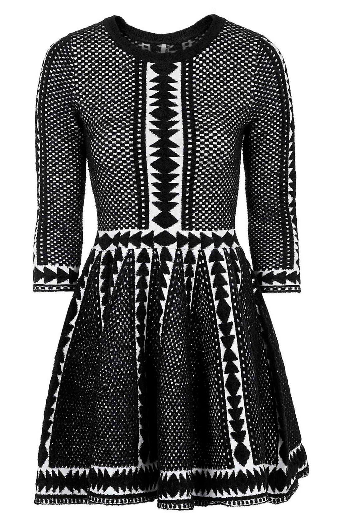 Alternate Image 4  - Topshop 'Premium' Fit & Flare Sweater Dress