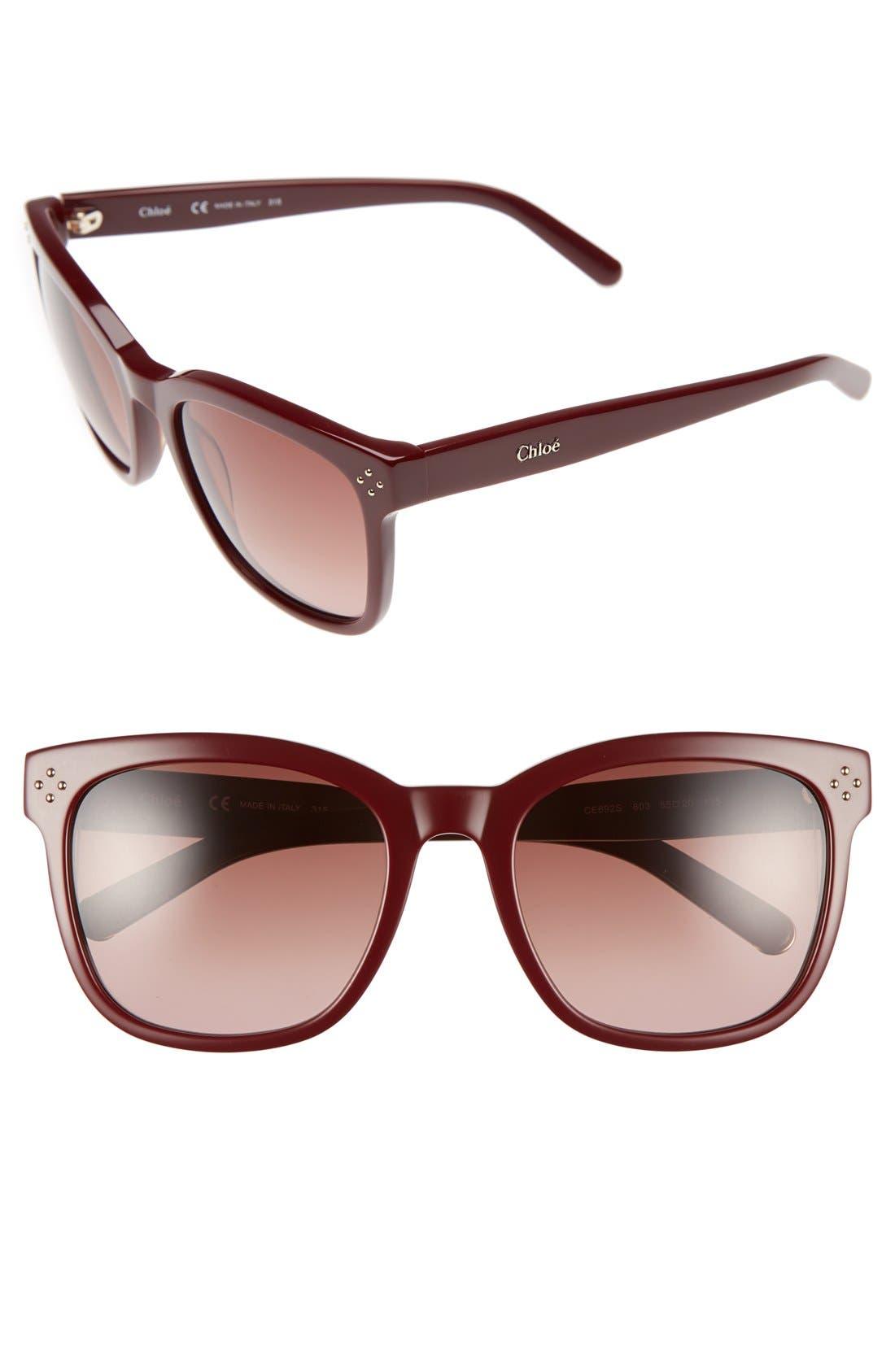 Chloé 'Boxwood' 55mm Sunglasses