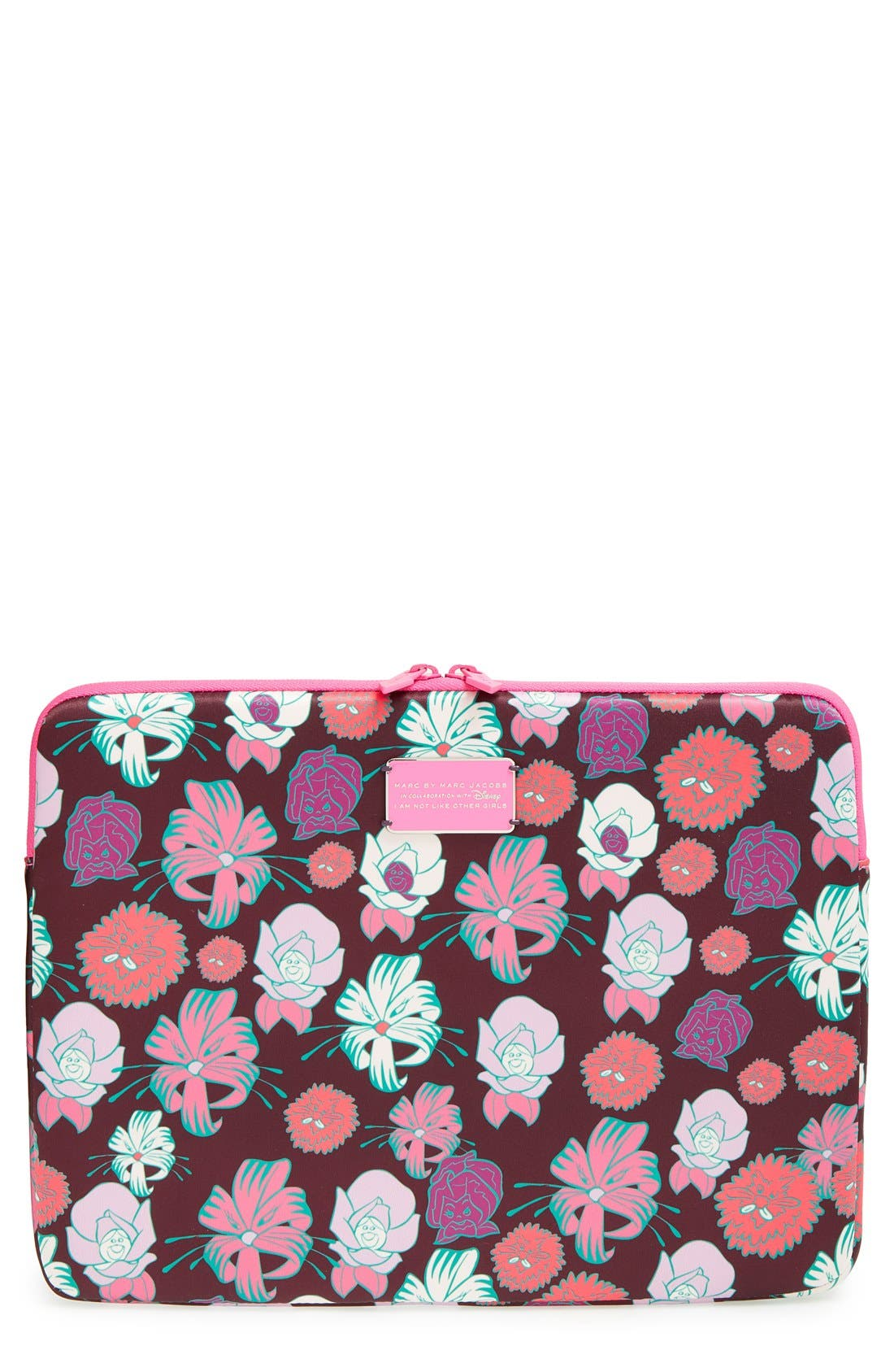 Main Image - MARC BY MARC JACOBS x Disney® 'Alice in Wonderland - Laughing Flowers' Computer Case (13 Inch)